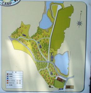 犬島公園キャンプ場案内図