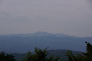 吉井竜天キャンプ場 大山方面