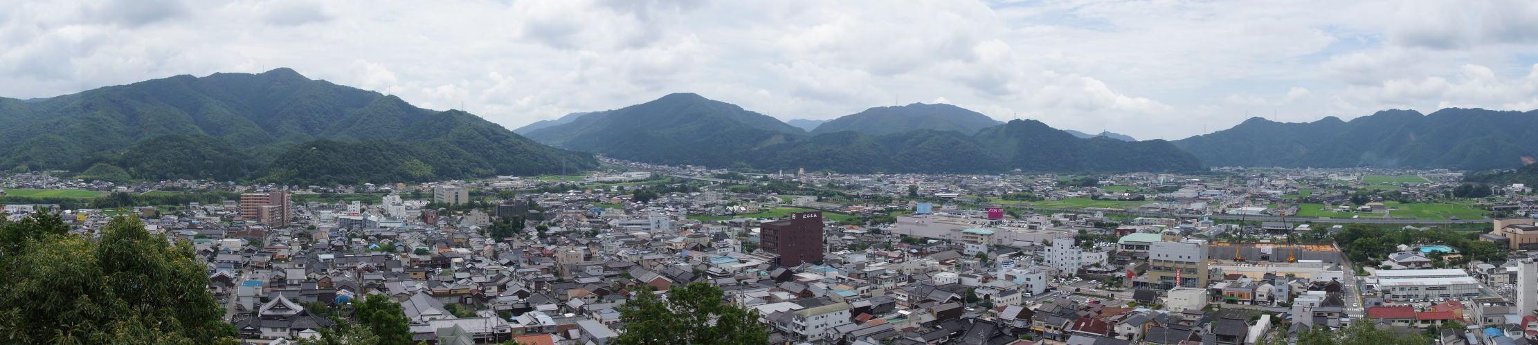 山崎の街並み from 最上山展望台