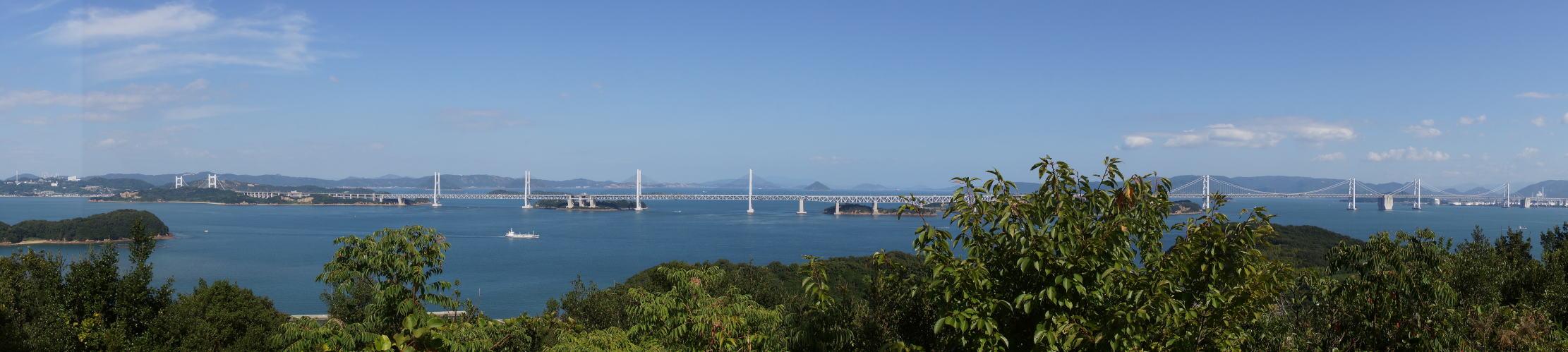 瀬戸大橋 from 本島 遠見山展望台