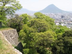 讃岐富士from丸亀城
