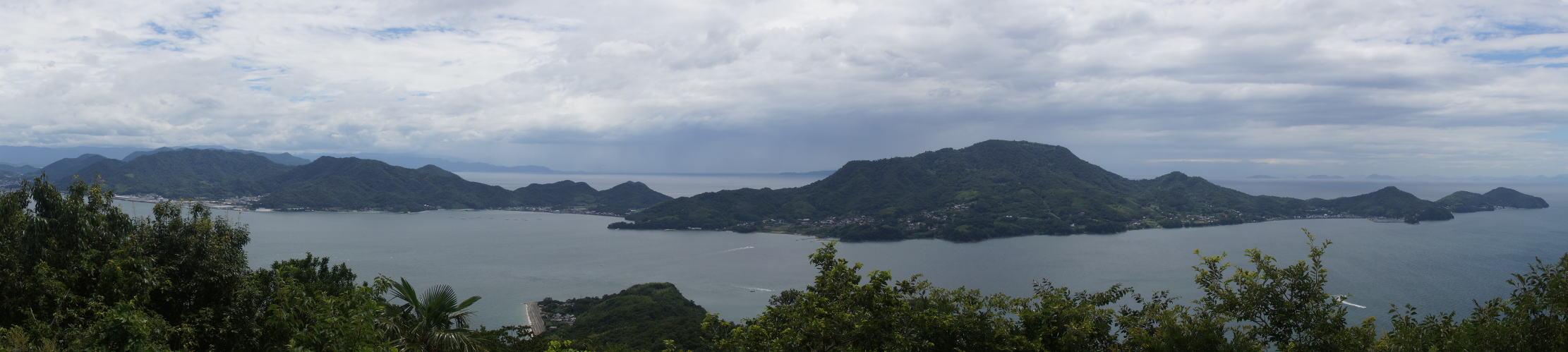 荘内半島 from 粟島 城山
