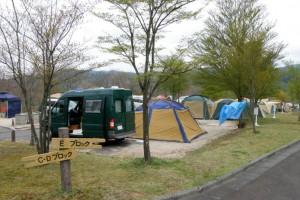 恩原高原キャンプ場テントサイト