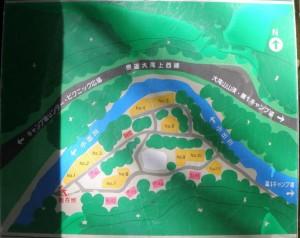 大滝山県民いこいの森キャンプ場第2キャンプ場現地図