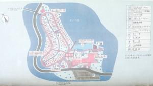 五色台オートキャンプ場サイト現地案内図