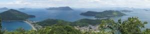 塩飽諸島パノラマfrom城山