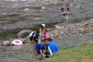 長林キャンプ場 水遊び場