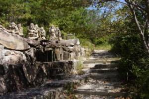 笠山登山口と七福神