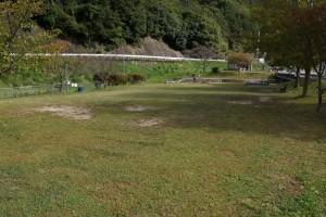 知明湖キャンプ場 芝生広場