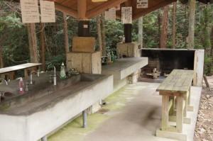 やしろ鴨川の郷キャンプ場 炊事棟