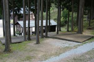 湯の原温泉キャンプ場林間サイト