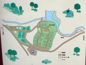 津谷キャンプ場 現地地図