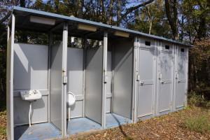高間キャンプ場 簡易トイレ