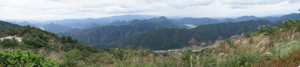 大野山山頂パノラマ