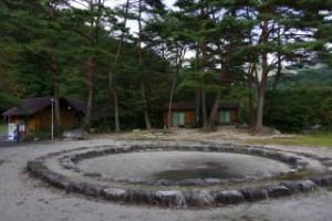 黒木第1キャンプ場 ファイヤーサークル