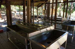 キャンプリゾート森のひととき炊事棟
