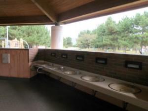 赤穂海浜公園キャンプ場洗面場