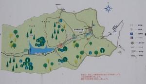 古法華石仏・笠山展望台現地案内図