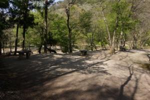大鬼谷キャンプ場Bサイト林間サイト
