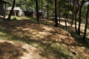 高梁自然公園キャンプ場テントサイト