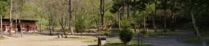大鬼谷キャンプ場Bサイト林間サイトパノラマ