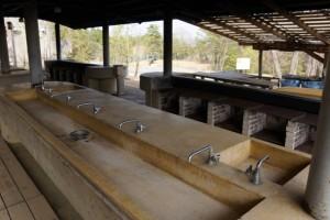 たけべの森キャンプ場炊事棟