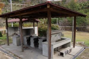 亀島キャンプ場 炊事棟