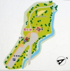田浪キャンプ場 現地図