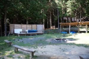 キャンプリゾート森のひととき野外ステージ