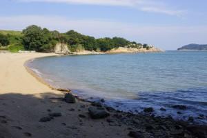 前島海水キャンプ場 ビーチ