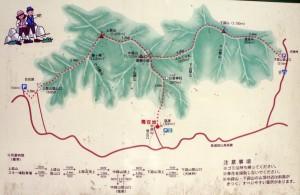蒜山登山道 現地案内図