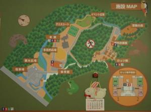 奥伊那健康の郷 現地案内図