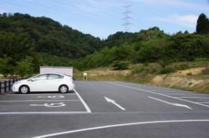 権現総合公園キャンプ場駐車場