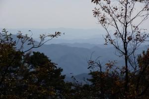 高間キャンプ場 遠景
