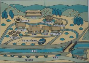 長林キャンプ場 現地案内図