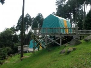 野呂山キャンプ場常設キャンプサイト