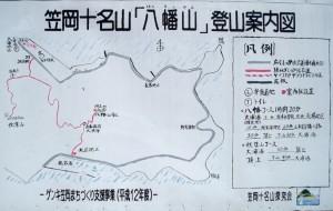秋葉山・八幡山登山現地案内図