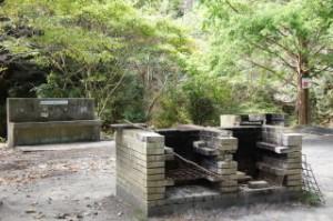 古法華自然公園キャンプ場 炊事場