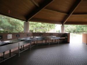 赤穂海浜公園キャンプ場調理場