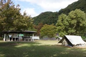 知明湖キャンプ場  テントサイト
