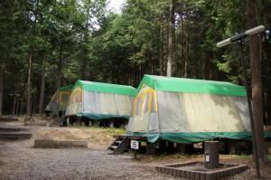 やしろ鴨川の郷キャンプ場 常設テントサイト