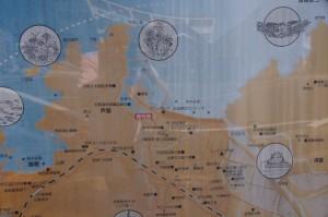 浜坂周辺現地案内図