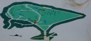 休暇村「帝釈峡」くぬぎの森オートキャンプ場 現地案内図
