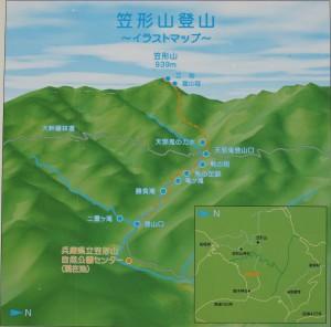 笠形山登山現地案内図