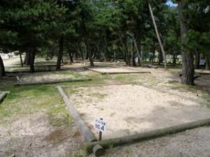 恋ヶ浜キャンプ場 キャンプサイト