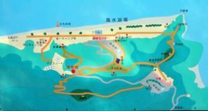 休暇村「瀬戸内東予」シーサイドキャンプ場 案内図