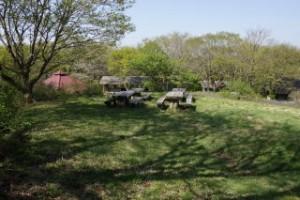 吾妻山ロッジキャンプ場 野外卓