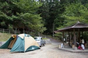 雪彦山キャンプ場 テントサイト