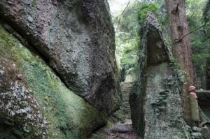 瓜生羅漢石仏への道