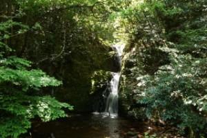 常清滝キャンプ場近くの滝